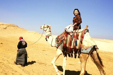 Layover to Giza pyramids with riding camel for Early Morning Arrival