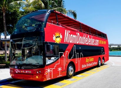 Half-Day Double Decker Bus and Boat Tour of Miami