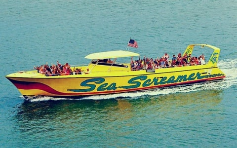Speedboat Ride and Clearwater Beach Adventure