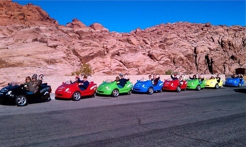 3-Wheel Scooter Car Half-Day Cruise in Red Rock Canyon