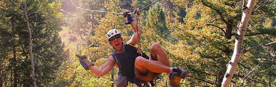 The Rocky Mountain Zipline Adventure Tour from Denver