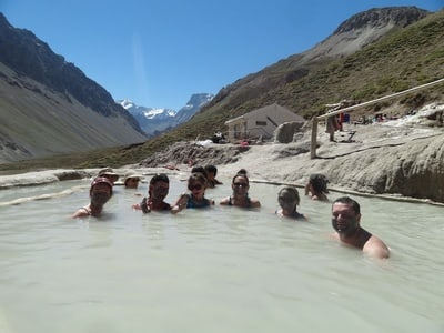 From Santiago: Maipo Canyon Volcano and Hot Spring Tour