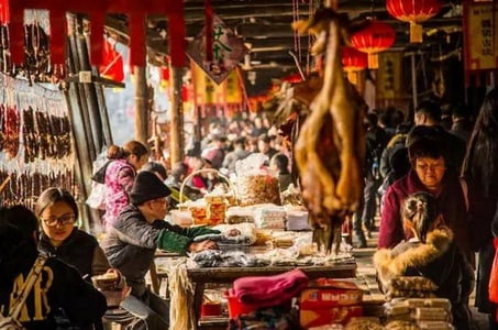 Small Group Tour to Shaoxing Anchang Ancient Town from Hangzhou in Chinese New Year