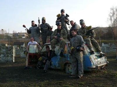 Prague: 4-Hour Paintball Adventure in Krč