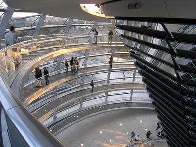 German Tour: Reichstag glass dome & government district