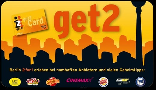 Get2Card Berlin: Buy 1 Get 1 Free at 700 Attractions