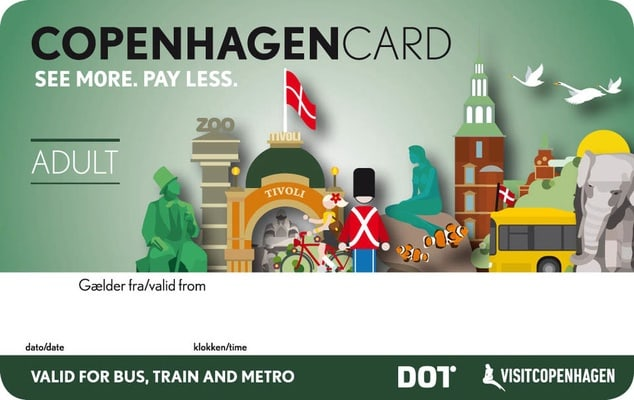 Copenhagen Card avec transport - 24, 48, 72 ou 120 h
