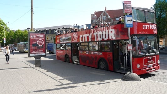 Tallinn 3 Route City Tour: Hop-on Hop-off 24-Hours