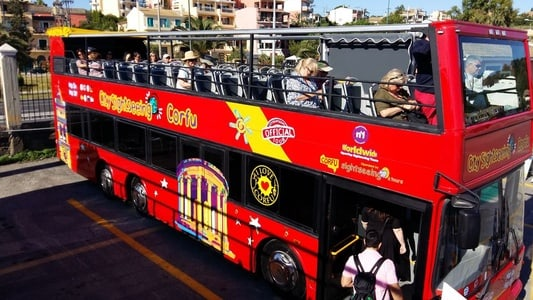 Corfu Hop-on Hop-off City Sightseeing Bus Tour