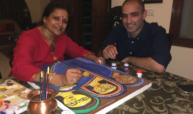 Learn Indian Folk Art while you eat - Indian Street Food