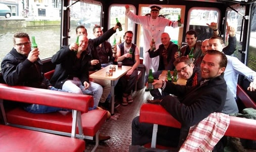 Amsterdam Party Boat Experience with Drinks Included