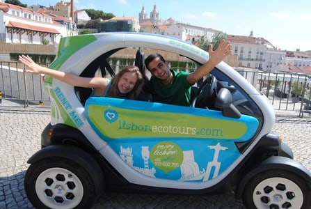 Lisbon 6H-Ride in an Electric Car & GPS Audio Guide