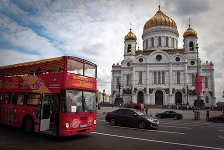 Moscow: Hop-On Hop-Off 1-Day or 2-Day City Tour