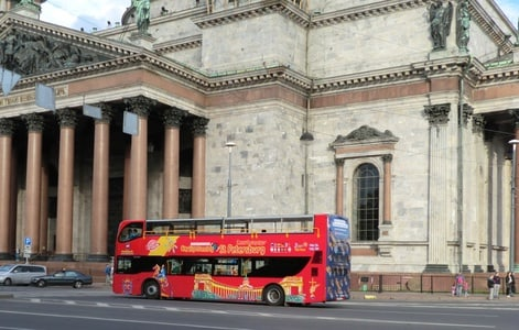 St. Petersburg: 1 or 2-Day Hop-On Hop-Off Bus Ticket