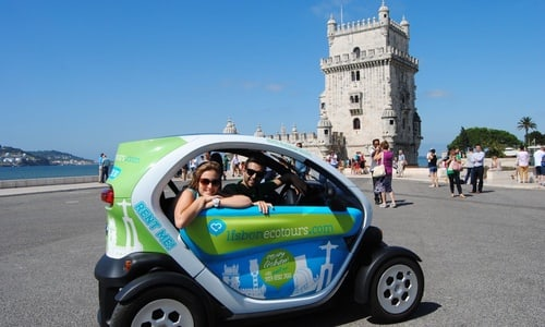 Tour of Lisbon in an Electric Car with GPS Audio Guide