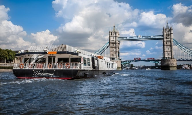 Thames River afternoon tea cruise