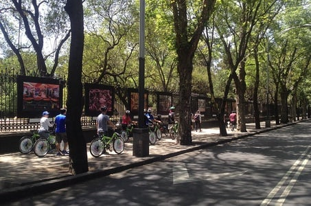 Mexico City Bike and Cultural Tour Including Government Palace
