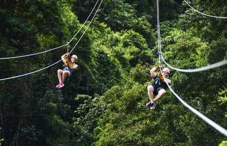 Zip-Lining: 12 Cables in Punta Cana