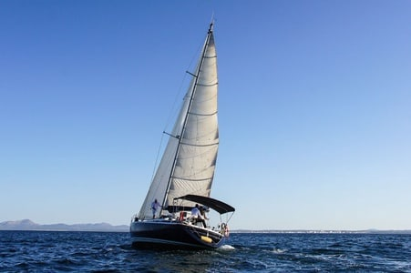 From Port d'Alcúdia: sailing at sunset