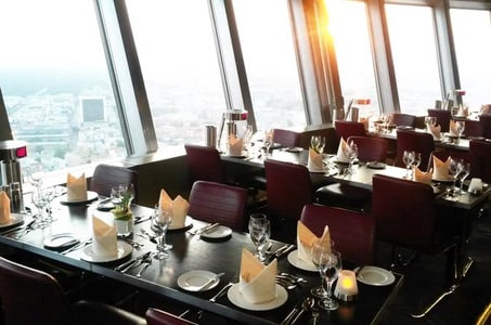 Skip the Line: Dinner at the Berlin TV Tower and Hop-on Hop-off City Tour