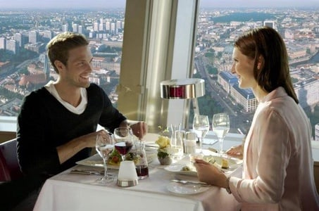 Skip the Line: Lunch at the Berlin TV Tower and Berlin Hop-on Hop-off Tour