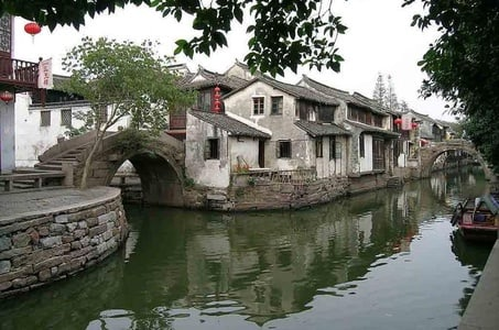 See Zhouzhuang Water Town and Shanghai City in One Day
