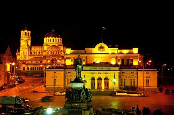Sofia by Night Panoramic Tour with Dinner and Folklore Show