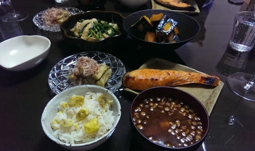 Japanese home made night meal