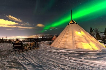 Overnight Stay in Lavvu, Northern Lights and Reindeer Sledding in Tromso