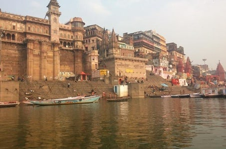 Evening Excursion: Ganga River Walking Tour with Dinner Overlooking the River in Varanasi