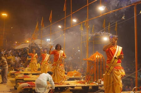 Full-Day Varanasi Tour with Sunrise Ganges Cruise and Classical Dance Show