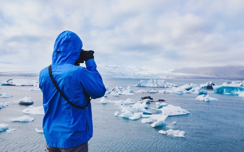 Tourist in antarctica