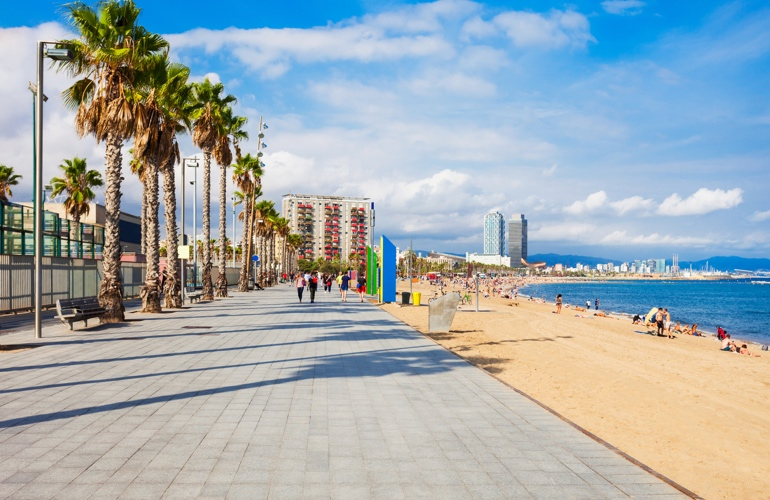 Barcelona in April