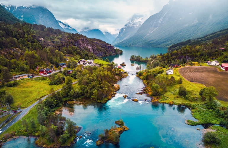 The Norwegian fjords