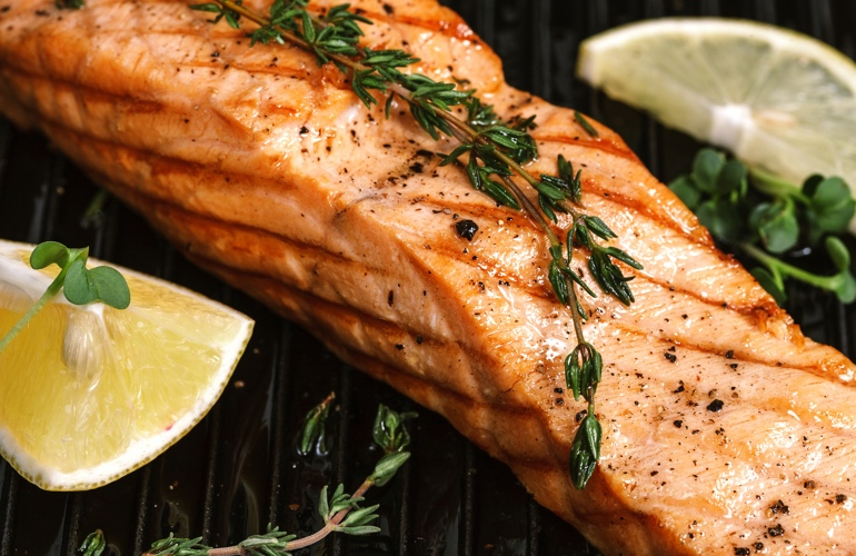 Norwegian roasted salmon