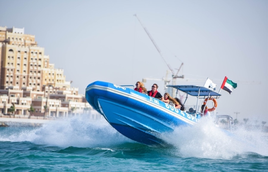 Speedboat tour in Dubai